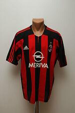 AC Mailand Italien 2003/2004 Home Football Shirt Maglia Jersey Adidas Schewtschenko Ära