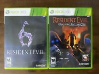 USED - Resident Evil 6 + Operation Raccoon City (Microsoft Xbox 360) Lot of 2