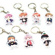 KPOP BTS Bangtan Boys Keychain Key Ring Bag Clip & Phone Holder