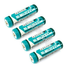 4 pcs AA LR06 2000mAh 1.2V NI-MH rechargeable battery CELL/RC MP3 2A HYPER BLUE