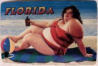 Rare Vintage Florida Bathing Beauty on Beach Playing Cards Original Plastic Box