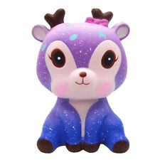 14cm Jumbo Galaxy Deer Squishy Slow Rising Squeeze Animal Toy Stress Reliever US