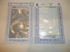 NEW SET OF 2 PACKS DECALS NORFOLK & BLACK STRIPS HO SCALE