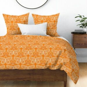 Butterfly Sateen Duvet Cover by Roostery