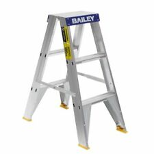 Bailey Ladder Pro 0.9m 3 Step Double Sided 150kg Aluminium FS13385