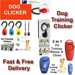 Dog Training Clicker to Stop Pet Barking Obedience Train Skills Pet Dog Clickers