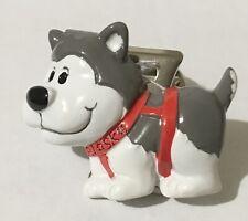 Alaskan New Resin Husky Dog Memo Magnet Clip