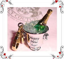 New Juicy Couture Champagne Bucket Charm Bracelet/Necklace/Bag