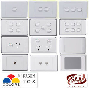 1 2 3 4 5 6Gang Single / Double Wall Light Switch / Power Point Socket GPO
