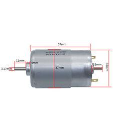 RS-555 Dual Double 3.175mm Shaft DC Electric Motor Motor DC 12V~24V 8000RPM