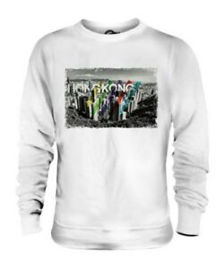 HONG KONG SKYLINE UNISEX SWEATER TOP GIFT CHINA ARCHITECTURE