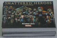 Dealer's Lot of 98 comic promo cards ~ 2011 Marvel SHATTERED HEROES