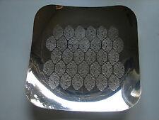 WMF EP Brass, quadratische Schale, versilbert, diagonal 30x30cm