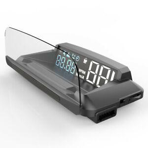 Car GPS Digital Speedometer Head Up Display Gauges Overspeed Tired Warning Alarm