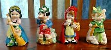 BELLS LOT OF 4 SNOW WHITE PETER PAN PINOCCHIO RED RIDING HOOD J S N Y VINTAGE