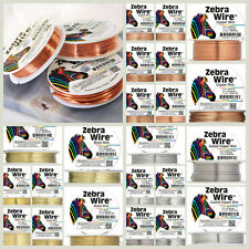 Zebra Wire Gold Silver Copper Round Spool 12ga,14,16,18,20,22,24,26 28 Gauge