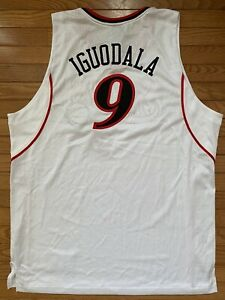 Rare Authentic Adidas Jersey 76ers Sixers Warriors Andre Iguodala Size 48 New