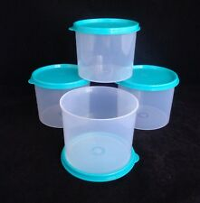 FREE SHIP Tupperware  Set of 4 Stacking Canister cookies candy gift NEW Teal