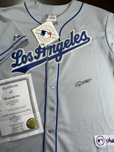 SIGNED Vintage 90s Majestic USA Los Angeles Dodgers Gary Sheffield Jersey COA