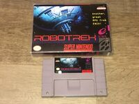 Robotrek Super Nintendo Snes Cleaned Tested w/Case Authentic