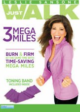 Leslie Sansone 3 Mega Miles Includes Toning Band Three Region 4 DVD