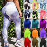 Women Anti-Cellulite Yoga Pants High Waist Leggings Push Up Textured Trousers Gy