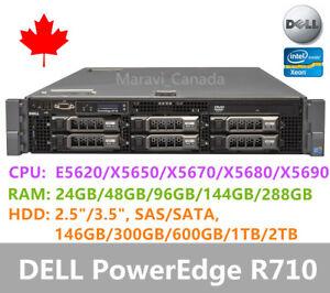"""DELL PowerEdge R710 Server 2x X5670 24GB RAM 2x 600GB SAS 3.5"""" H700 Raid 2x870W"""
