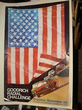 Affiche Ancienne Daytona Pneu Goodrich Auto An 70 Car Poster Dodge Ford USA