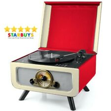 Vinatge Record Player Turntable Retro Vinyl All in One CD Player Radio System