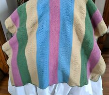 Handmade Thick, Luscious Wool Throw Blanket - GREAT Condition
