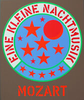 ROBERT INDIANA - Mozart. Unsignierter Farb-Siebdruck. Domberger Stuttgart.