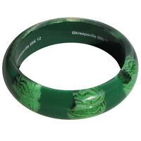 Green Zombie Monster Brain Bangle bracelet Resin Kreepsville 666 Psychobilly