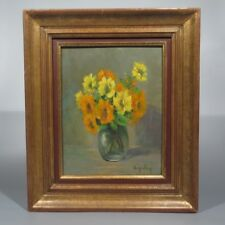 Vintage French Painting, Bouquet of Flowers, Signed Suzalem, Woman Artist