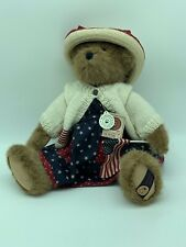 New Boyds Bears Exclusive Edition Dolly M. Bearsevelt With Flag With Tags