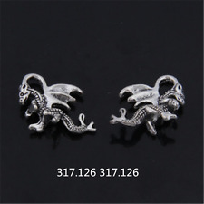 15X Tibetan Silver dragon Charm Pendant Beads Jewellery Craft Wholesale  GU922