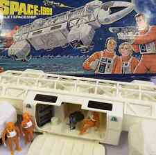 VINTAGE SPACE 1999 MATTEL EAGLE ONE 1 TRANSPORTER BOX FIGURES COMPLETE