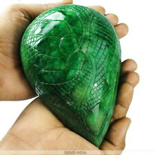 Certified 4920 Ct Natural Emerald Huge Museum Size Moghul Carving Pear Gemstone