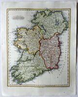 Ireland Ulster Connacht Munster Leinster c. 1844-7 Walker beautiful map