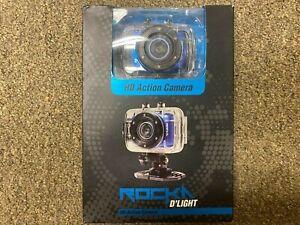 Rock D'Light HD Action Camera - HD 720P Video Camcorder - Model # RK-1002-BL