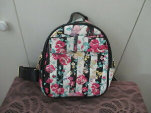 Small Betsey Johnson Rose Floral Bow Backpack NWT