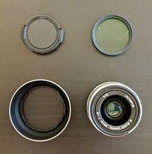 Olympus M.Zuiko 25 mm F/1.8 ASP For Olympus - Silver