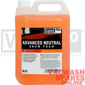 VALETPRO ADVANCE PH NEUTRAL SNOW FOAM 5LITRE PRE-WASH / WAX SAFE / WHEEL CLEANER