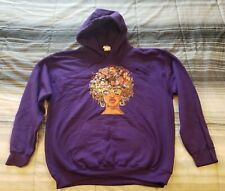 My Roots - Gildan Purple Hoodie Sweatshirt Sz Large L