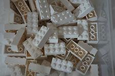 LEGO WHITE BRICKS 2 x 4 No 3001 pak of 70 ( CITY, STAR WARS, FRIENDS, MOVIE)