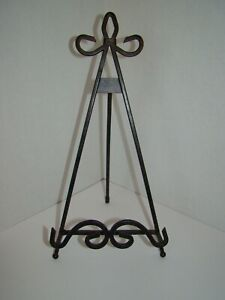 Black Wrought Iron Table Easel
