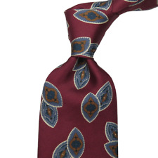 Christian Dior Italy Necktie Tie Silk Paisley Classic Business Office Chic 3.5