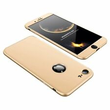 Fullbody Hard Case 360 Protection Matt Schutz Hülle Gold für iPhone 8 7 4.7""