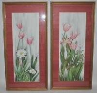 CARMEL FORET TULIPS & DAISY PRINT SIGNED LIMITED EDITION 1986 & 89 SILK MATTED