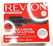 Revlon One-Step Hair Dryer And Volumizer Hot Air Brush, Black Fast Shipping