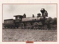 TRAINS DE LEGENDE - LOCOMOTIVE MOGUL -  PHOTO / FEUILLE CLASSEUR